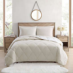 UGG® Juvie 2-Piece Twin Flannel Comforter Set in Ivory Herringbone