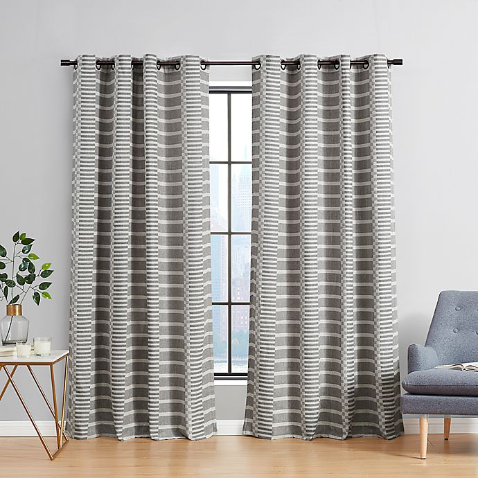 Alternate image 1 for Urban Thread® Ranchester Grommet Room Darkening Window Curtain Panel