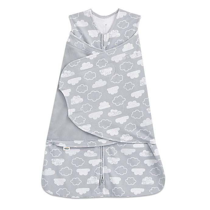 Alternate image 1 for HALO® SleepSack® Newborn Clouds Adjustable Swaddle in Grey/White
