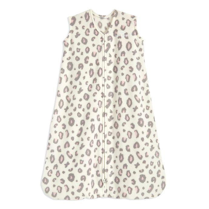 Alternate image 1 for HALO® SleepSack® Small Leopard Micro-Fleece Wearable Blanket in White/Pink