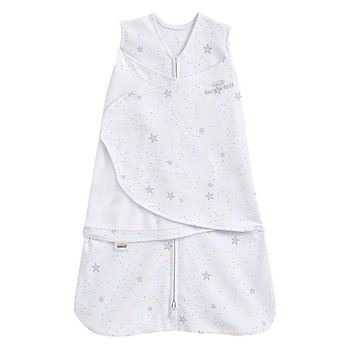 Alternate image 1 for HALO® SleepSack® Small Stardust Adjustable Swaddle in Grey