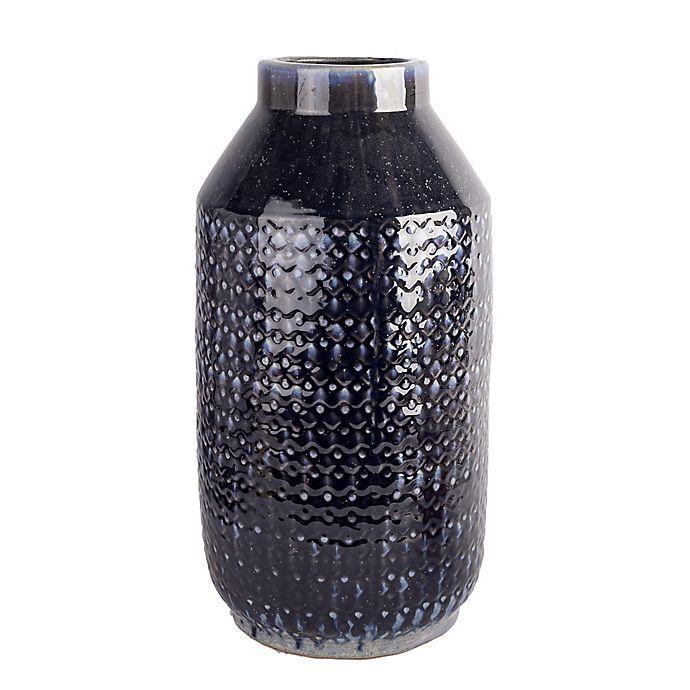 Alternate image 1 for Home Essentials & Beyond 12.99-Inch Hand-Thrown Ceramic Decorative Vase in Off-White