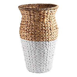 Home Essentials & Beyond Pandan Woven Vase in White/Tan