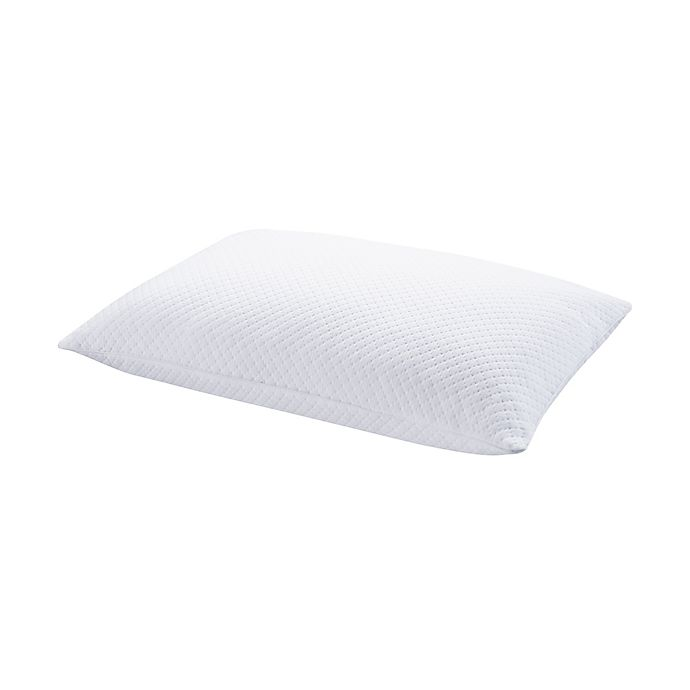 Alternate image 1 for Brookstone® THERMO-STAT™ Down Alternative Back/Stomach Sleeper Bed Pillow