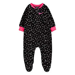 Nike® Size 9M Dot Fleece Footie in Black