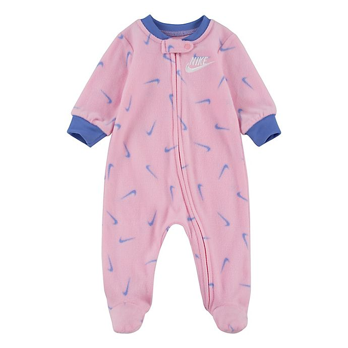 Alternate image 1 for Nike® Swooshfetti Footed Coverall in Pink