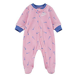 Nike® Swooshfetti Footed Coverall in Pink