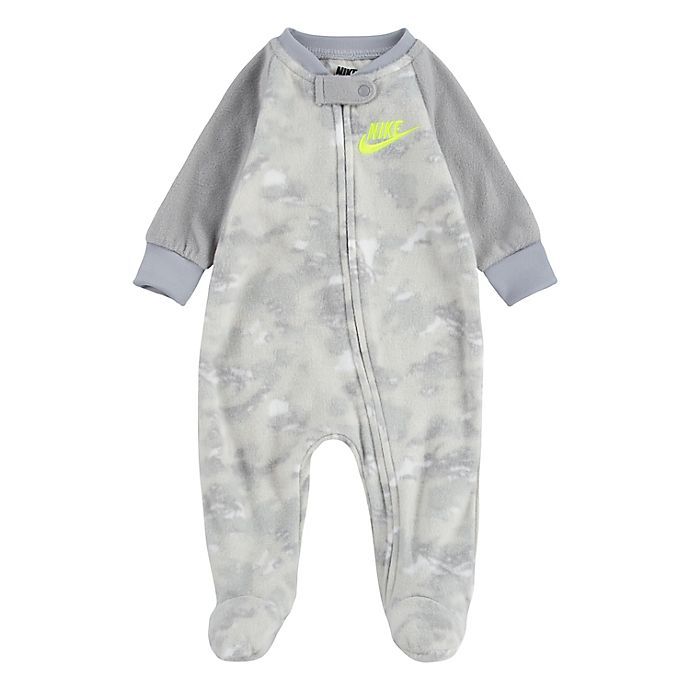 Alternate image 1 for Nike® Camo Microfleece Footed Coverall
