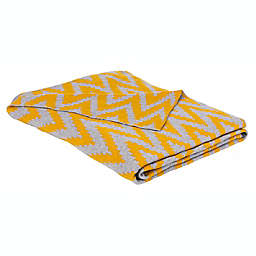 Safavieh Kail Reversible Throw Blanket in Yellow/Grey
