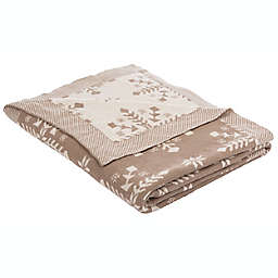Safavieh Snowflake Reversible Throw Blanket in Grey/Taupe
