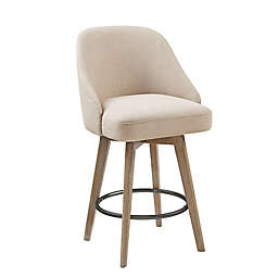 Madison Park Pearce Counter Stool with Swivel Seat in Sand