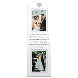 Malden® Corinthians Mr. & Mrs. 2-Photo Picture Frame in White