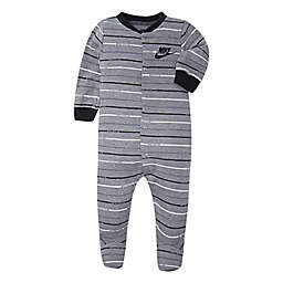 Nike® Jordan Size 3-6M Striped Footed Coverall in Grey/Black