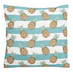 Safavieh Pari Pineapple Indoor/Outdoor Square Throw Pillow in Teal/White