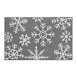 Snowflake Silver Bath Rug