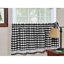 Buffalo Check Kitchen Window Curtain Tier Pair