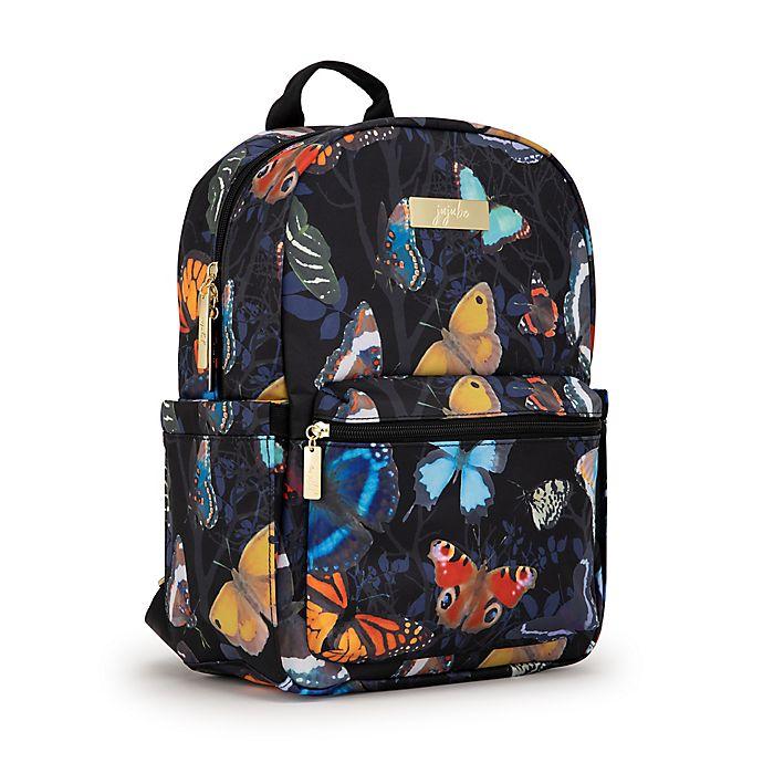 Alternate image 1 for Ju-Ju-Be® Midi Social Butterfly Diaper Backpack in Black