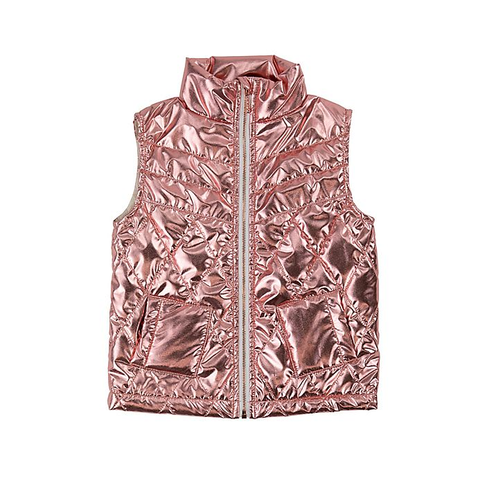 Alternate image 1 for Sovereign Code® Size 6-9M Metallic Quilted Vest in Pink