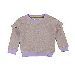Sovereign Code® Ruffle Trim Sweatshirt in Lavender/Oatmeal