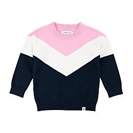 Sovereign Code® Colorblock Sweater in Navy/Pink