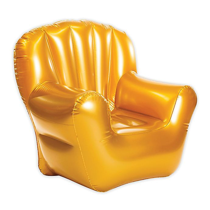 Alternate image 1 for AirCandy Classic Inflatable Arm Chair in Metallic Gold