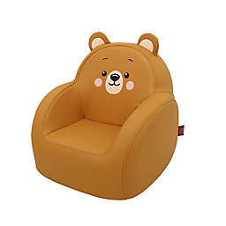 Dwinguler Kid's Grizzly Sofa in Orange