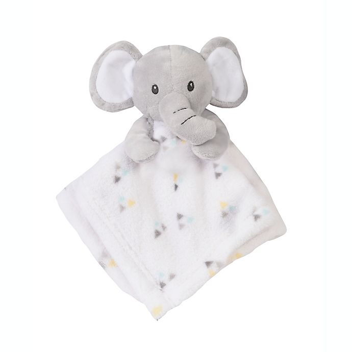 Alternate image 1 for Baby's First by nemcor Baby Buddy 2-Pack Elephant Security Blankets in Grey