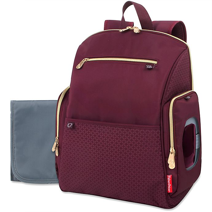 Alternate image 1 for Fisher-Price® Gemma Fashion Diaper Backpack