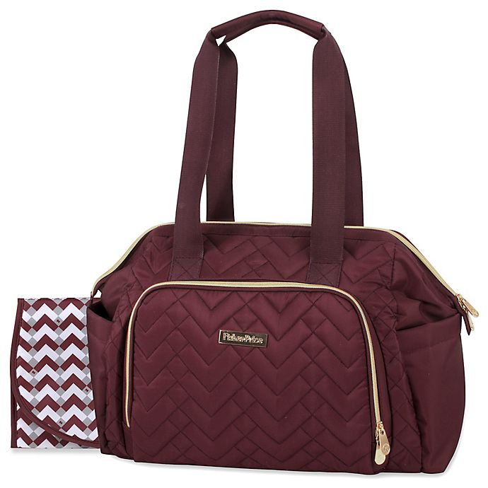 Alternate image 1 for Fisher-Price® Harper Quilted Diaper Tote Bag in Burgundy