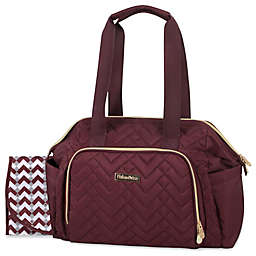 Fisher-Price® Harper Quilted Diaper Tote Bag in Burgundy