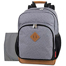Fisher-Price® Grayson Diaper Backpack in Grey