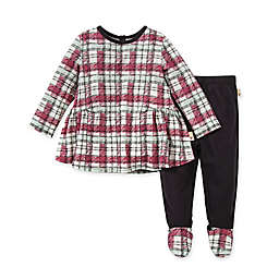 Burt's Bees Baby® Cozy Harvest Size 0-3M 2-Piece Plaid Organic Cotton Tunic and Pant Set