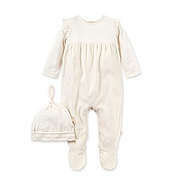 Burt's Bees Baby® 2-Piece Velour Organic Cotton Jumpsuit and Hat Set
