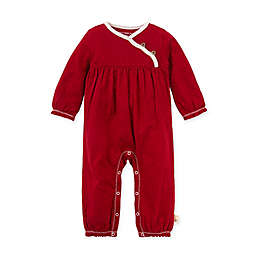 Burt's Bees Baby® Newborn Honeycomb Pointelle Organic Cotton Jumpsuit in Cranberry