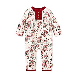 Burt's Bees Baby® Berry and Bright Organic Cotton Jumpsuit in Eggshell