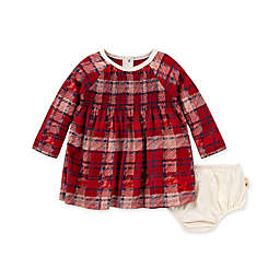 Burt's Bees Baby® Size 24M Plaid Organic Cotton Dress with Diaper Cover in Cranberry