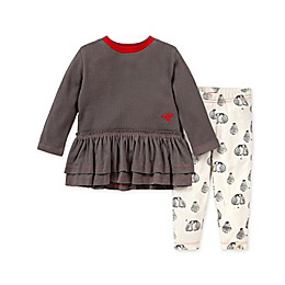 Burt's Bees Baby® 2-Piece Baby Penguin Tunic and Legging Set in Zinc