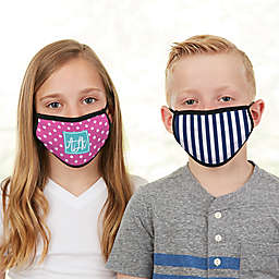 Pattern Play Monogram  Kids Face Mask