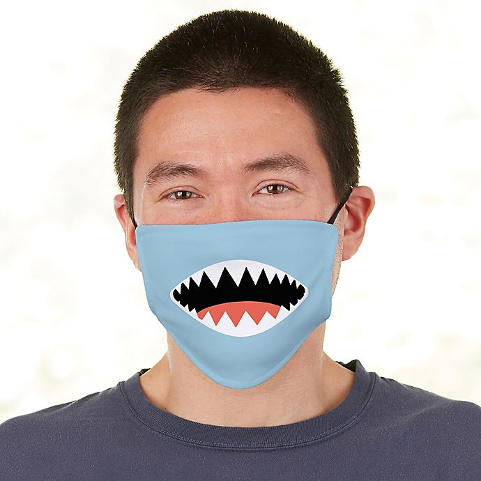 Alternate image 1 for Shark Face For Him  Adult Deluxe Face Mask with Filter
