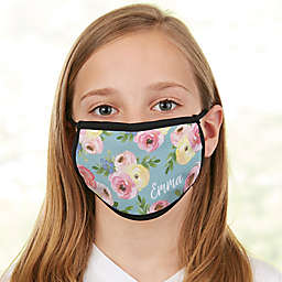Floral Print Personalized Kids Face Mask