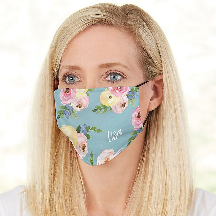 Alternate image 1 for Floral Print Adult Deluxe Face Mask with Filter