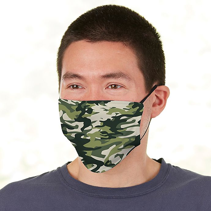 Alternate image 1 for Camo Personalized Adult Deluxe Face Mask with Filter