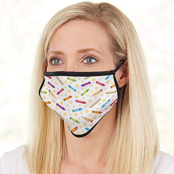 Alternate image 1 for School Supplies Adult Teacher Face Mask