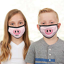 Pig Face Personalized Kids Face Mask