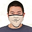 Part of the Choose Your Expression Personalized Adult Face Mask For Him