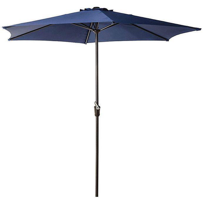Alternate image 1 for 9-Foot Hexagon Aluminum Tilting Patio Market Umbrella