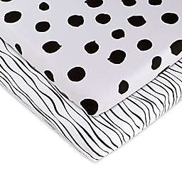 Ely's & Co.® 2-Pack Abstract Bassinet Sheets in Black