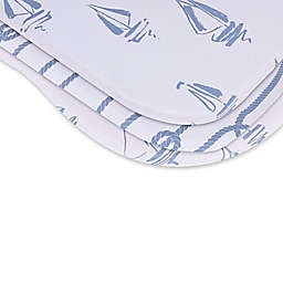 Ely's & Co.® 2-Pack Nautical Bassinet Sheets in Blue