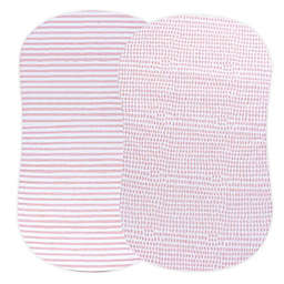 Ely's & Co.® 2-Pack Waterproof Bassinet Sheets in Mauve