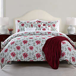 Antique Poinsettia 7-Piece Reversible Comforter Set